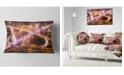 "Design Art Designart Beautiful Shanghai Traffic Throw Pillow - 12"" X 20"""