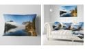 "Design Art Designart Bohinj Lake Panorama Seashore Throw Pillow - 12"" X 20"""