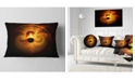 """Design Art Designart Bright Yellow Magical Lights Abstract Throw Pillow - 12"""" X 20"""""""