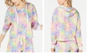 Miken Juniors' Tie-Dye Cropped Cover-Up Sweatshirt, Created for Macy's