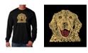 LA Pop Art Men's Word Art Long Sleeve T-Shirt - Dog