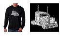 LA Pop Art Men's Word Art Long Sleeve T-Shirt- Keep On Truckin