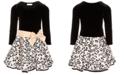 Bonnie Jean Little Girls Drop-Waist Glitter-Print Dress