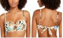 SUNDAZED Paradise Palm Printed Becky Bra Sized Bikini Top, Created for Macy's