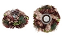 Northlight Dusty Rose Pine Cone Artificial Christmas Votive Candle Holder