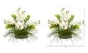 Nearly Natural Cymbidium Orchid and Zamioculcas Artificial Arrangement