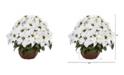 Nearly Natural Poinsettia Artificial Arrangement in Decorative Planter