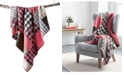 Martha Stewart Collection Holiday Patchwork Throw, Created For Macy's