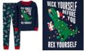 Carter's Little & Big Boys 2-Pc. Cotton Holiday Dino Pajamas Set