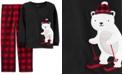 Carter's Little & Big Boys 2-Pc. Fleece Polar Bear Pajamas Set