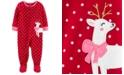 Carter's Toddler Girls 1-Pc. Reindeer Fleece Footie Pajamas