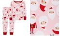 Carter's Toddler Girls 2-Pc. Snug-Fit Cotton Santa Pajamas Set