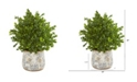 """Nearly Natural 18"""" Sweet Grass Artificial Plant in Floral Vase Indoor/Outdoor"""