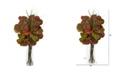 "Nearly Natural 44"" Sea Grape Artificial Arrangement in Vase"