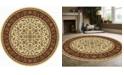 "KM Home CLOSEOUT! 1318/1516/IVORY Navelli Ivory/ Cream 5'3"" x 5'3"" Round Area Rug"