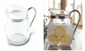 Vagabond House Curved Glass Pitcher Classic Pewter Handle, Lemonade - Water - Ice Tea Pitcher