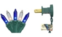 """Northlight Set of 35 Blue Clear Mini Christmas Lights 2.5"""" Spacing - Green Wire"""