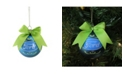 """Northlight 2.75"""" Blue and Green """"Ford"""" Logo Glass Ball Christmas Ornament"""