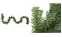 """Northlight 50' x 8"""" Commercial Length Canadian Pine Artificial Christmas Garland - Unlit"""