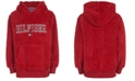 Tommy Hilfiger Big Boys Eddie Red Fleece Logo Hoodie
