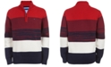 Tommy Hilfiger Big Boys Ryan Colorblocked Stripe 1/4-Zip Sweater