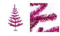 Northlight 3' Fuchsia Pink Tinsel Pine Artificial Christmas Twig Tree - Unlit