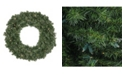 """Northlight 30""""  Pre-Lit LED Canadian Pine Artificial Christmas Wreath - Clear Lights"""