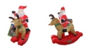 Northlight 4.75' Inflatable Rocking Reindeer Santa Lighted Christmas Outdoor Decoration
