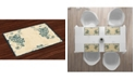 Ambesonne Peacock Place Mats, Set of 4
