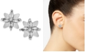 INC International Concepts INC Silver-Tone Crystal Flower Stud Earrings, Created For Macy's