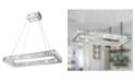 Worldwide Lighting Galaxy 14 Integrated LED Light Chrome Finish Diamond Cut Crystal Rectangle Chandelier