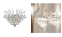 Worldwide Lighting Empire 3-Light Chrome Finish and Clear Crystal Wall Sconce Light