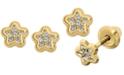 Macy's Child's Cubic Zirconia Star Stud Earrings in 14k Gold