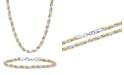 Macy's Men's Rope Link Bracelet and Necklace Set