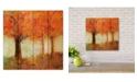 "Courtside Market Fall Trees 12"" x 12"" Wood Pallet Wall Art"