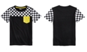 Epic Threads Big Boys Checkered-Print Colorblocked T-Shirt, Created For Macy's
