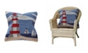 """Liora Manne Frontporch Lighthouse Indoor, Outdoor Pillow - 18"""" Square"""