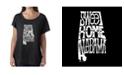 LA Pop Art Women's Dolman Cut Word Art Shirt - Sweet Home Alabama