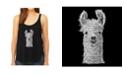 LA Pop Art Women's Premium Word Art Flowy Tank Top- Llama