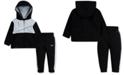 Nike Baby Boys 2-Pc. Colorblocked Therma Fleece Zip Hoodie & Pants Set