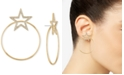 """RACHEL Rachel Roy Medium Gold-Tone Crystal Star Hoop Earrings 2"""""""