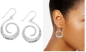 Essentials Textured Swirl Drop Earrings in Fine Silver-Plate