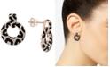 EFFY Collection EFFY® Diamond Animal Pattern Drop Hoop Earrings (1-5/8 ct. t.w.) in 14k Rose Gold