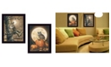 """Trendy Decor 4U Autumn Owls Collection By John Rossini, Printed Wall Art, Ready to hang, Black Frame, 14"""" x 18"""""""
