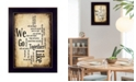 """Trendy Decor 4U We Go Together I By Susan Ball, Printed Wall Art, Ready to hang, Black Frame, 14"""" x 10"""""""