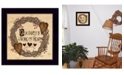 """Trendy Decor 4U Our Family is a work of the Heart Linda Spivey, Ready to hang Framed Print, Black Frame, 14"""" x 14"""""""