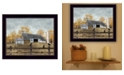 """Trendy Decor 4U A Casual Conversation by Billy Jacobs, Ready to hang Framed Print, Black Frame, 18"""" x 14"""""""