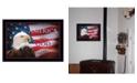 "Trendy Decor 4U One Nation Under God - Flag By Lori Deiter, Printed Wall Art, Ready to hang, Black Frame, 20"" x 14"""