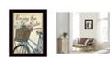 "Trendy Decor 4U Enjoy the Ride By Debbie DeWitt, Printed Wall Art, Ready to hang, Black Frame, 14"" x 18"""