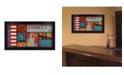 "Trendy Decor 4U Liberty By Dee Dee, Printed Wall Art, Ready to hang, Black Frame, 20"" x 11"""